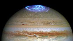 「木星のオーロラ」撮影される 探査機「ジュノー」は不思議な音を観測