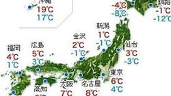 東京23区でも積雪の恐れ 明日4日は今季最強レベルの寒波が襲来