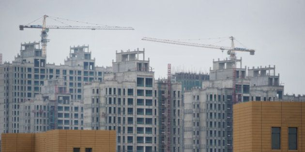 A photo taken on August 18, 2012 shows ongoing construction in the inner Mongolian city of Ordos. Miss...