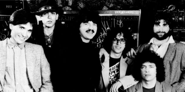 Dominate record award nominations - The rock group Toto, shown with members, from left: Mike Porcaro,...