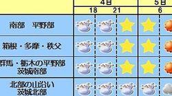 関東 帰宅時間帯の雪は