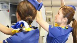 スカイマーク、エアバスA330型機の運航を開始 ミニスカ客室乗務員も乗務