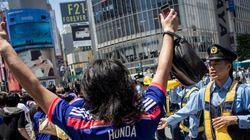 ワールドカップ、日本敗戦も渋谷はハイタッチで大興奮