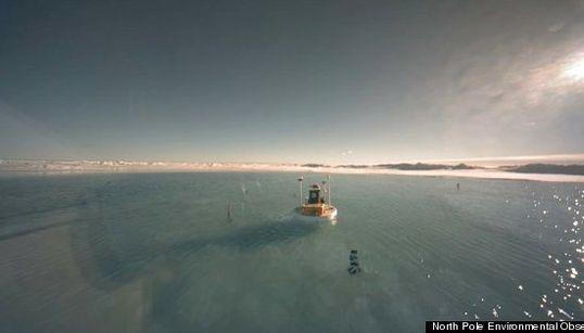 北極点が、氷原ではなく「湖」に(動画)