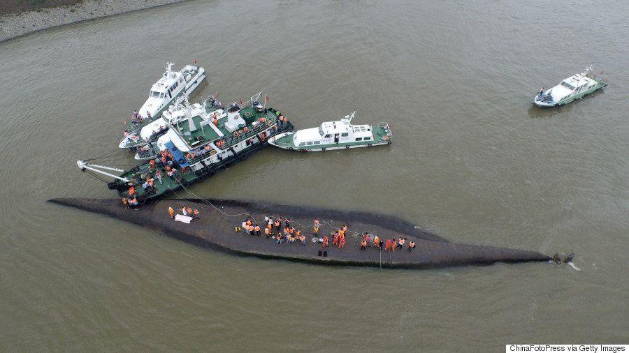 【長江の転覆事故】船体に穴を空ける作業開始