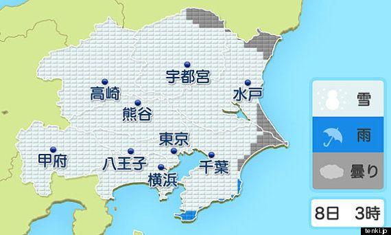 週末の大雪 関東で雪の降る時間やピークは (望月圭子)