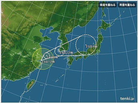 【台風情報】西日本は明日24日から大雨注意 台風は東へ