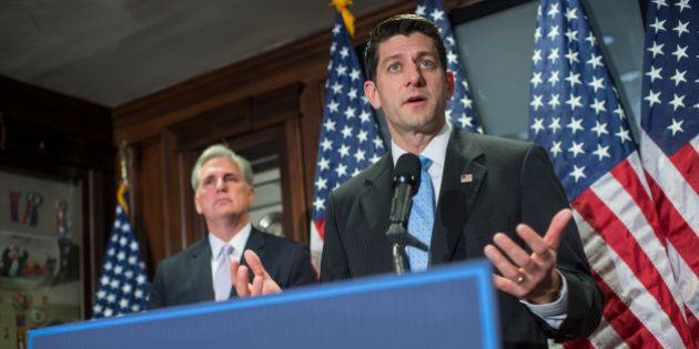 UNITED STATES - MARCH 8: Speaker of the House Paul Ryan, R-Wis., and House Majority Leader Kevin McCarthy,...