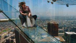 地上300メートルの全面ガラス張り滑り台「スカイスライド」、ロサンゼルスにオープン