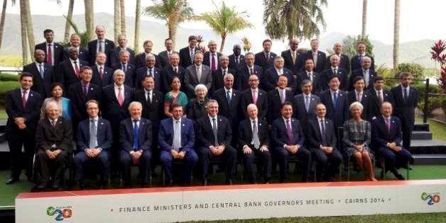 G20「機動的な財政政策」で合意、日本は財政再建の意欲示す