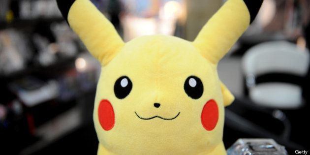 A Pokemon backpack from Nintendo at the Toy Fair 2011 on February 15, 2011 at the Javits Center in New...