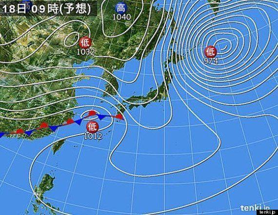関東は水曜日(19日)頃ふたたび雪に