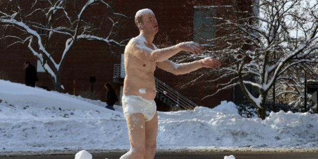 WELLESLEY - FEBRUARY 6: The sculpture entitled 'Sleepwalker' stands on the campus of Wellesley College...