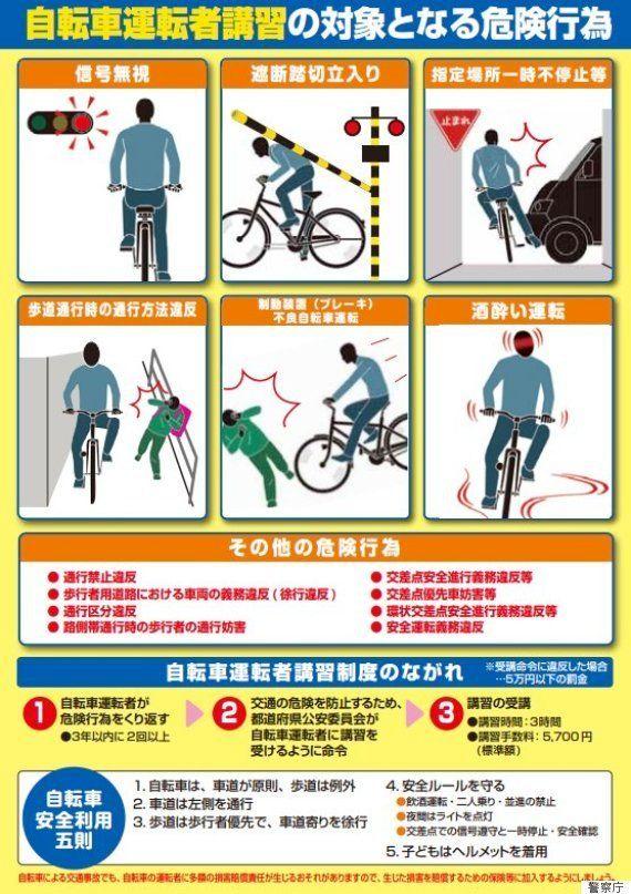 自転車の安全講習を義務化 受講対象となる14の危険行為は?