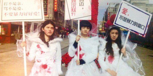 中国初のDV禁止法案の成立が進んでいるのに、女性の権利を訴える活動家が拘束される