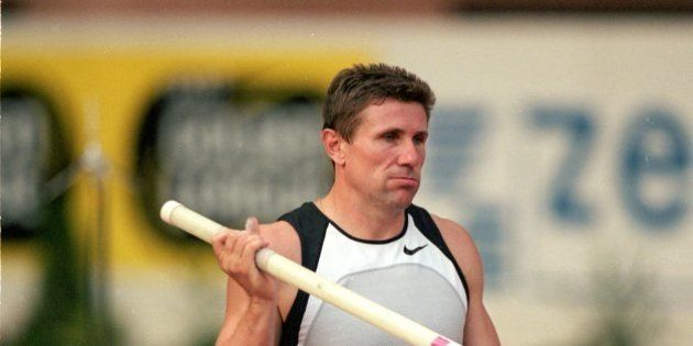 18 Aug 2000: Sergey Bubka of the Ukraine in action in the Pole Vault during the Hercules Zepter IAAF...