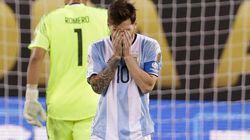 メッシがアルゼンチン代表引退を表明「僕にとっての代表チームは終わった」