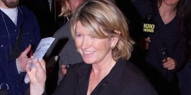 (FILES): This 28 September 2000 file photo shows US homemaking icon Martha Stewart arriving at Madison...