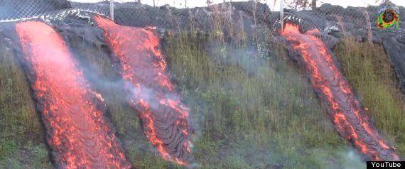 ハワイ・キラウエア火山に「溶岩の天窓」出現、目を見張るような自然の驚異(動画)