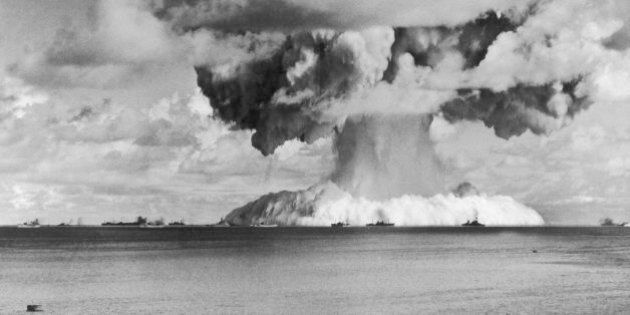 UNITED STATES - JULY 24: On July 24, 1946, The American Army Dropped The 5Th Atomic Bomb Above Bikini...