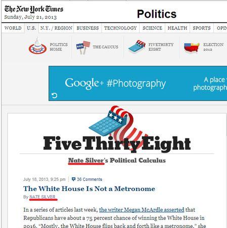 大量のトラフィックを呼び込む人気政治ブロガー、NYタイムズを去ってESPNへ