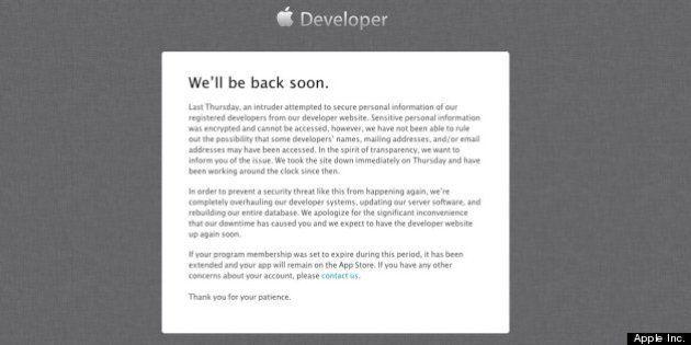 アップルで個人情報漏えいの可能性、開発者サイトへの不正アクセスで