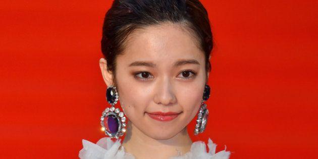 TOKYO, JAPAN - OCTOBER 22: Actress Haruka Shimazaki attends the opening ceremony of the Tokyo International...