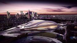 東京体育館と比較すると確かにデカイ新国立競技場