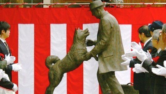 「ハチ公、やっと会えたね!」新銅像が完成 90年ぶりに飼い主を出迎える(画像集)