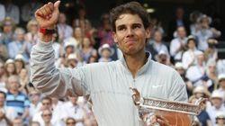 テニス全仏オープン、ナダルが初の5連覇