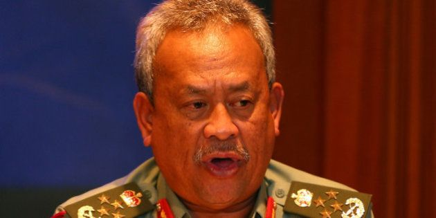 KUALA LUMPUR, MALAYSIA - MARCH 09: Tan Sri Zulkifelii Mohd Zin, Cheif of Malysia Armed Forces briefs...