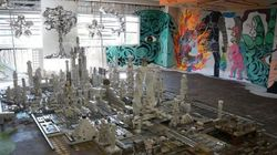 東京・麹町の取り壊し予定のビル1棟丸ごと、期間限定で「美術館」に【画像】