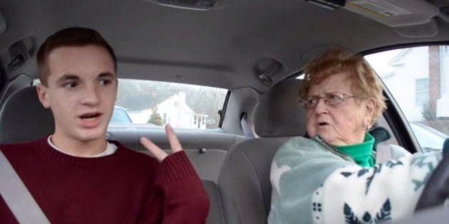 17歳のケヴィン君とおばあちゃん、車中の会話がYouTubeで大人気