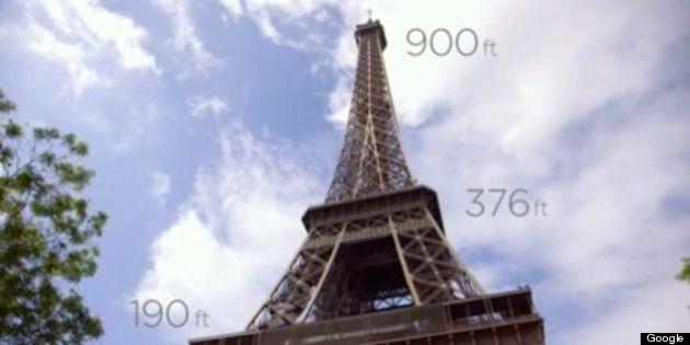 Googleストリート・ビューでエッフェル塔を360度観光