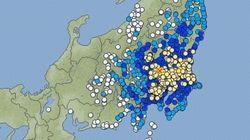 【地震情報】茨城・土浦で震度5弱 東京都内で震度4