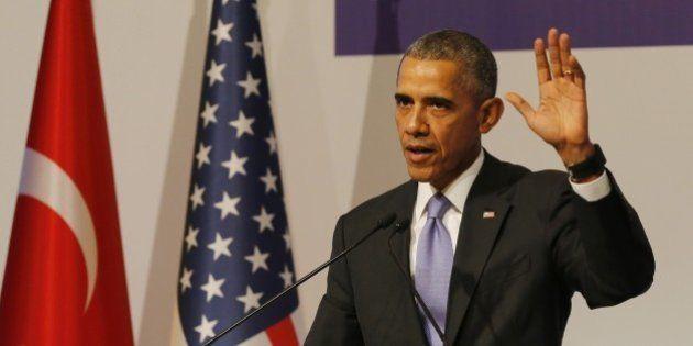 ANTALYA, TURKEY - NOVEMBER 16: US President Barack Obama speaks during a press conference on day two...