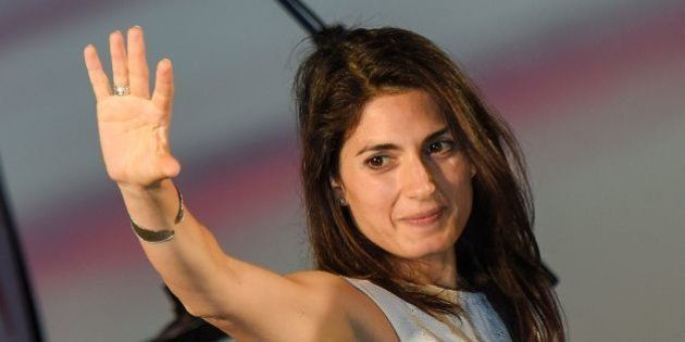 Virginia Raggi, Five Star Movement (M5S) candidate for the mayoral elections in Rome, speaks during her...