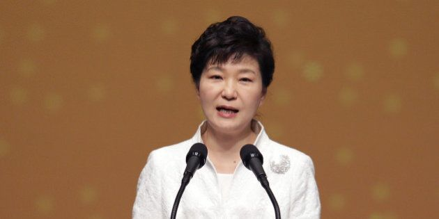 SEOUL, SOUTH KOREA - MARCH 01: South Korean President Park Geun-Hye speaks during the 96th Independence...