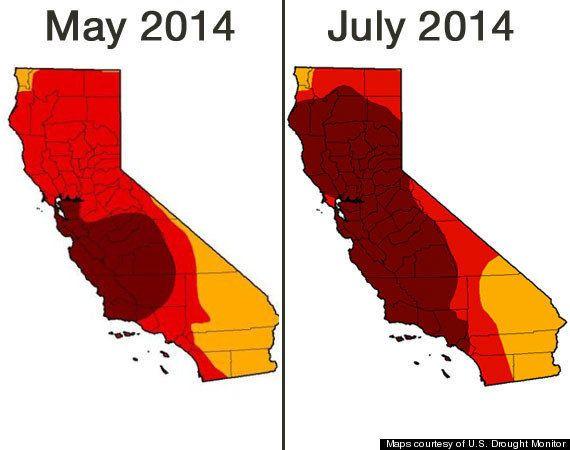 カリフォルニア州の旱魃が過去最悪のレベルに達している(マップ)