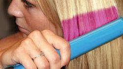 カラー剤で髪を染めることなく色を変える技術を発表