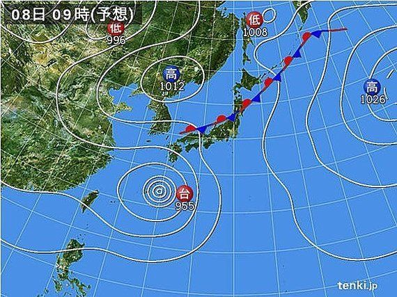 台風11号が接近