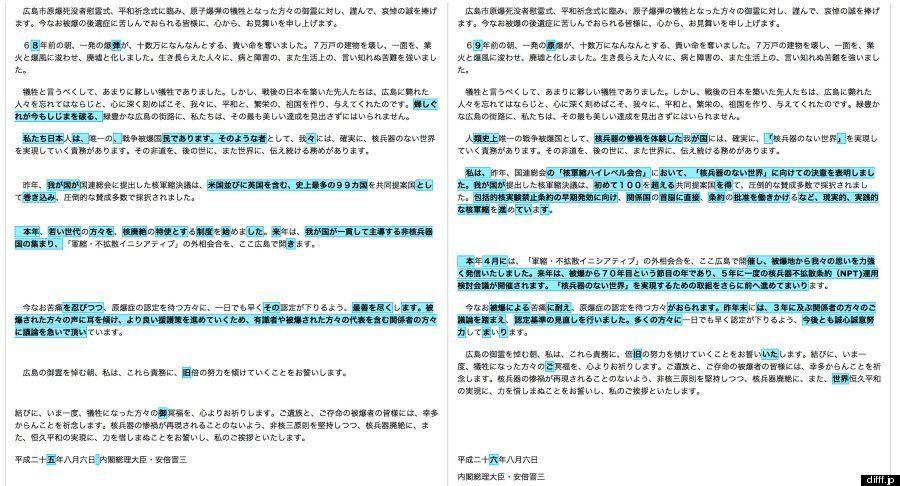 安倍首相、「広島原爆の日」の挨拶