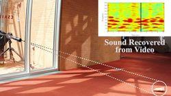映像だけから音を復元するビジュアルマイク技術が発表される(動画)