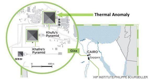 エジプトのピラミッドを赤外線スキャンしたら、あるものが見えた
