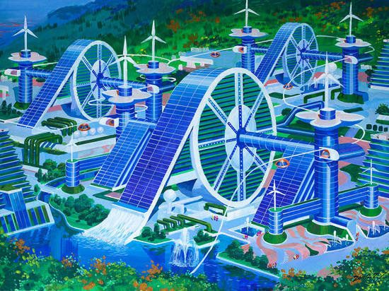 北朝鮮の建築家に未来予想図を描いてもらったら
