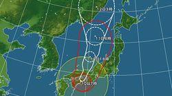 台風11号 今後の見通し、各地の雨・風のピーク時間