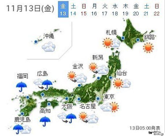 西で雷雨 明日は関東も次第に本降り