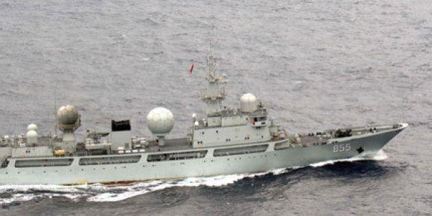 中国海軍の情報収集艦、日本領海に侵入 屋久島周辺を一時航行