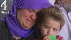 イスラム国に追い込まれたイラクの少数派「ヤジディ派」、決死の救出劇(動画)