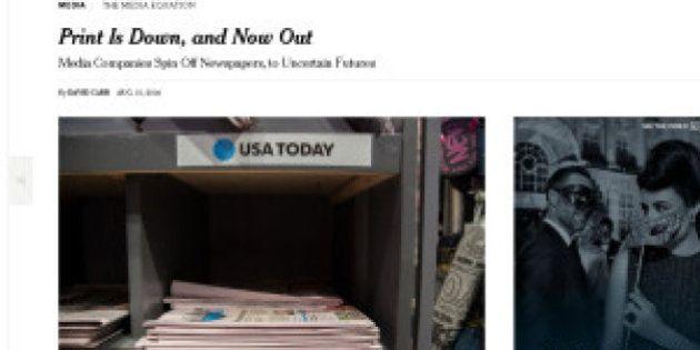 新聞社から新聞が追い出される:たった1週間で一変した米メディア界